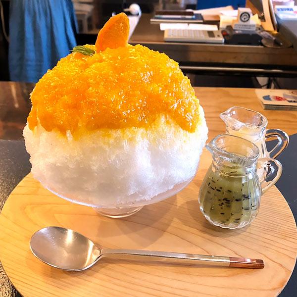 瀬戸内ひだまりかき氷「かき氷:本日の3種 温州みかん・完熟キウイ・おとなレモン」