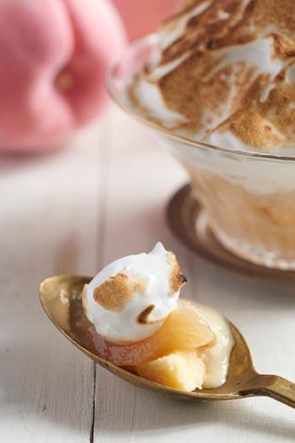 ケーキ感覚 桃のミルク焼きかき氷