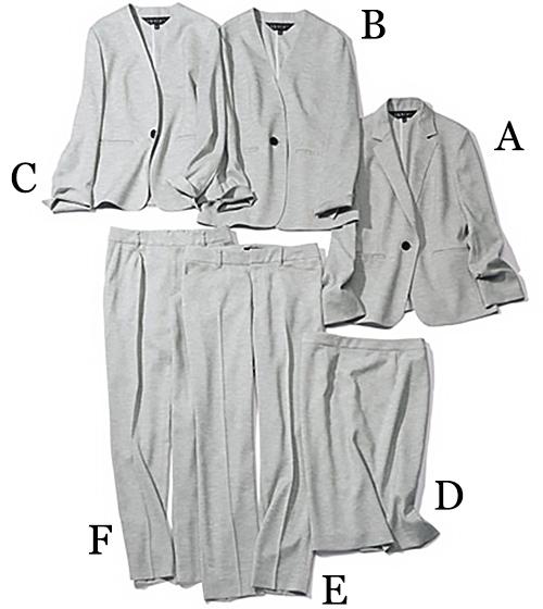 インディヴィ| INDIVI グレーのカセット服