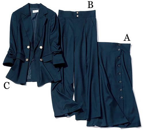オペーク ドット クリップ|OPAQUE・CLIP「ネイビーのカセット服」