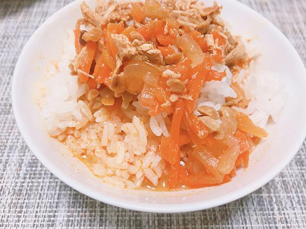 ごはんにかける 麻辣鶏絲