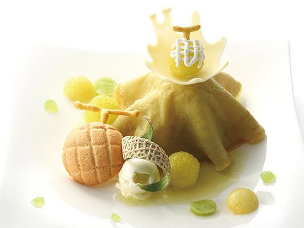 静岡県産 マスクメロンのプレートデザート