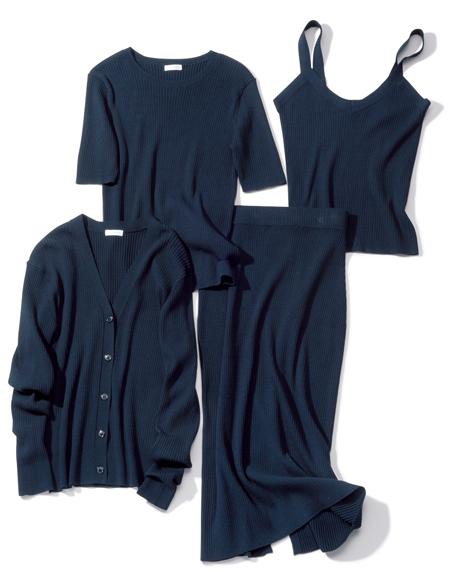 【1】ネイビーのカセット服
