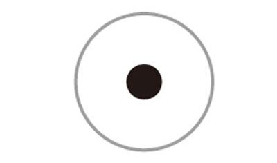 丸いシールの中心に点を書く