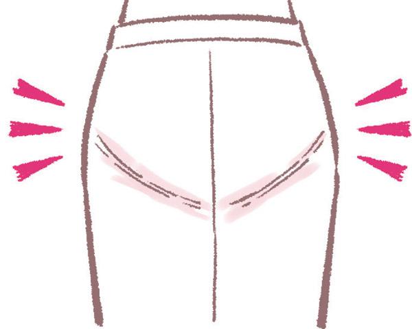 タイトスカートなどはショーツラインが目立つ