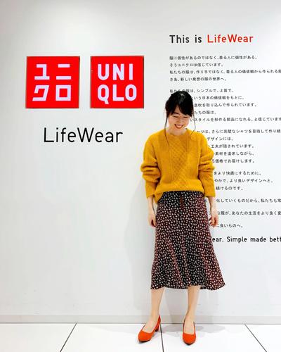 UNIQLO2019FW展示会 イネスとのコラボアイテム 全身コーデ