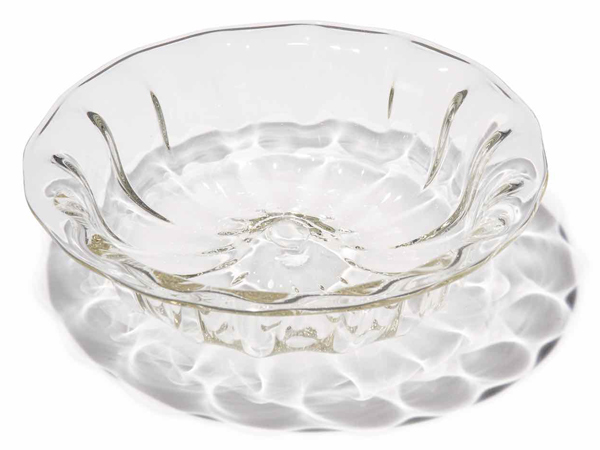 左藤吹きガラス工房のモール小皿