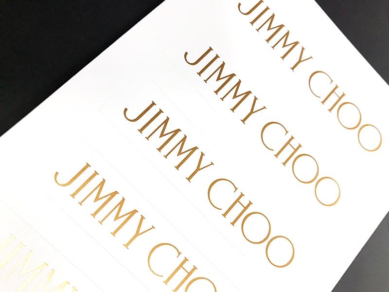 JIMMY CHOOのロゴシール