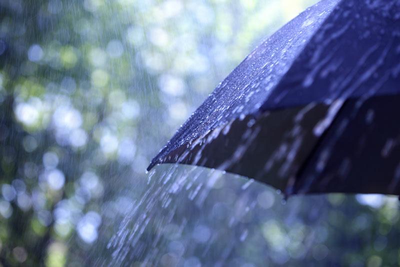 土砂降り雨