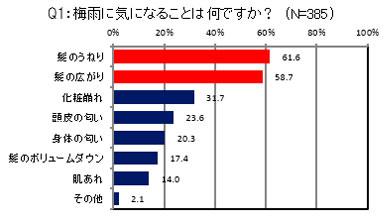 Q1:梅雨に気になることは何ですか? 結果グラフ