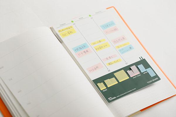 カンミ堂「ふせんを使うToDoボード」 手帳にセット