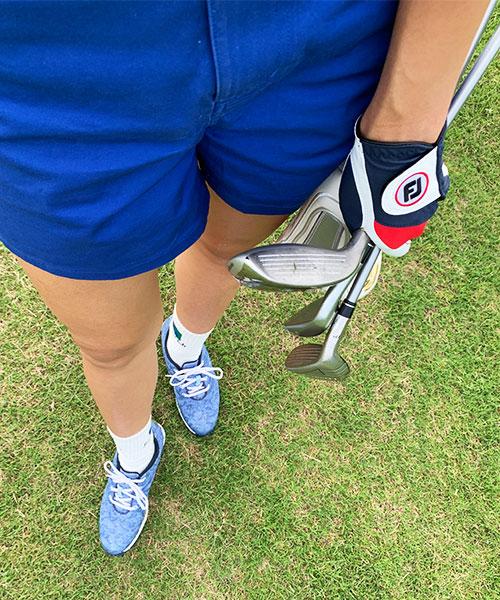 夏のゴルフコーデ