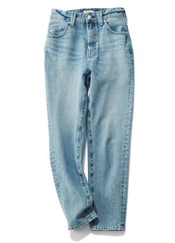 【ヤヌーク|YANUK】High waist tapered Saxe