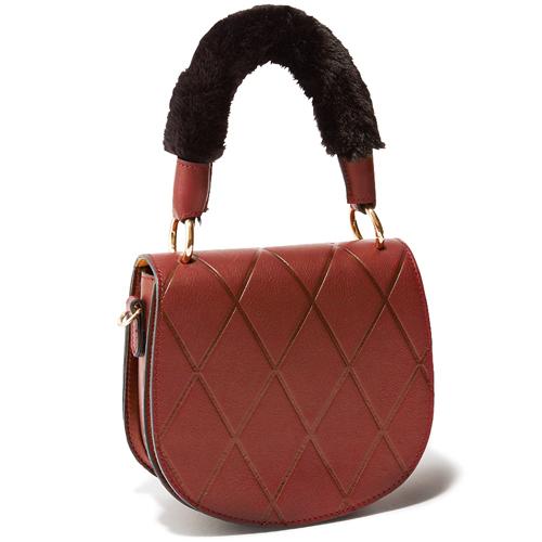 【PAOLA NUTTI|パオラ ヌッティ】のファーハンドルバッグ