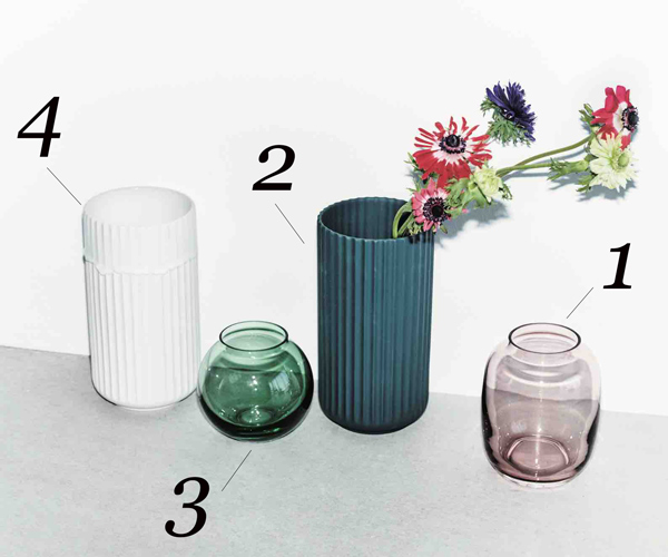 【Lyngby Porcelain|リュンビュー ポーセリン】円柱フラワーベース