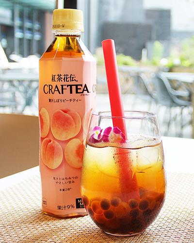 紅茶花伝 CRAFTEA 贅沢しぼりピーチティーアレンジレシピ
