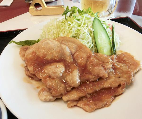 信州産豚生姜焼き定食