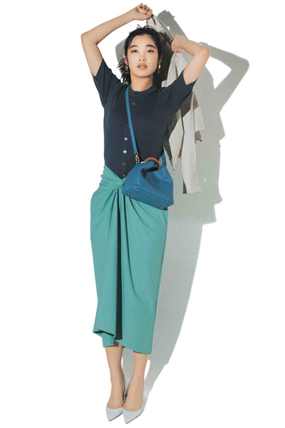 【エミ アトリエ|emmi atelier】フロントねじりタイトスカート着回し