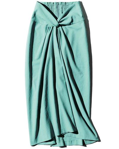 フロントねじりロングタイトスカート