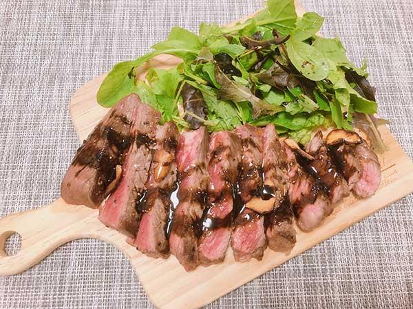 牛肉のタリアータ風【完熟オリーブオイルを使用】