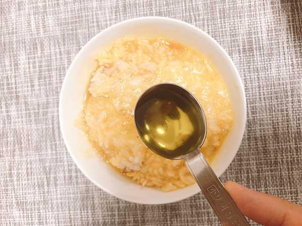 卵かけごはん【完熟オリーブオイルを使用】