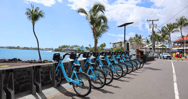 レンタサイクル「BIKE SHARE KONA HAWAII ISLAND」