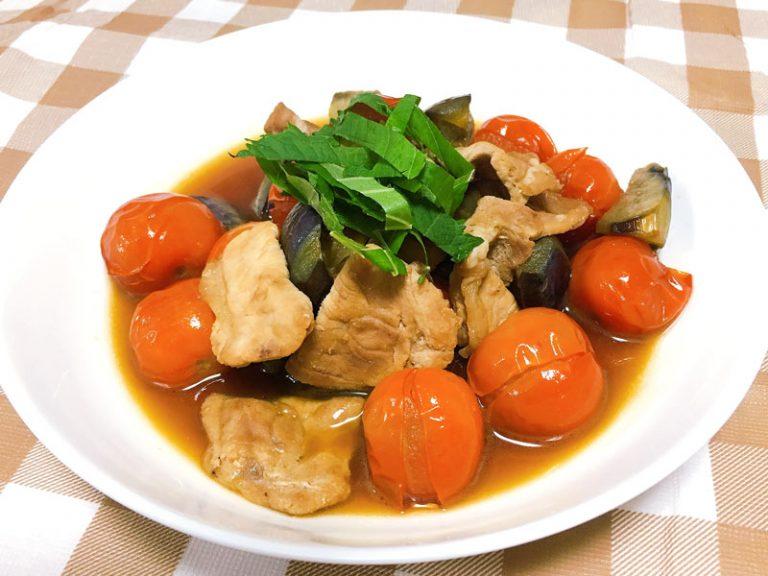 豚肉と夏野菜のうま煮