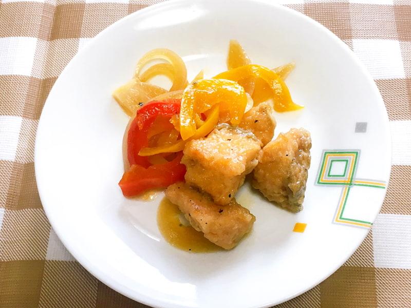【4】鮭と彩り野菜の南蛮