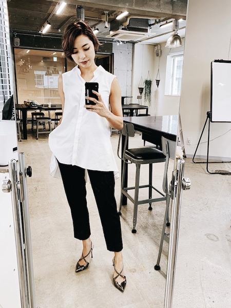 ファッションコーデを撮影