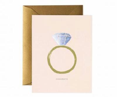 ウェディング・お祝いカード「シャイニーリング」