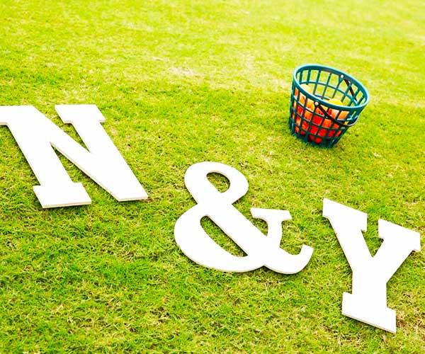 ゴルフ場でオリジナリティあふれる結婚式