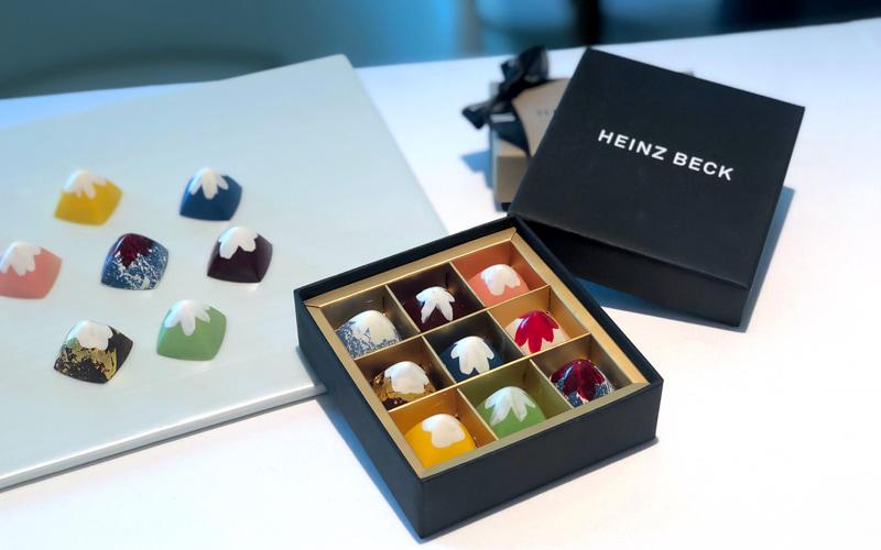 9種の富士山のチョコレート入りボックス