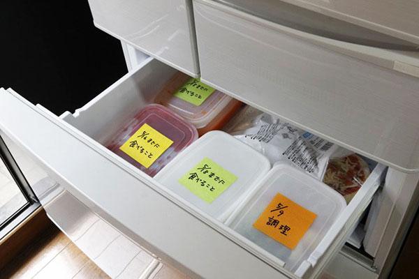 冷蔵庫内の作り置きの管理にも
