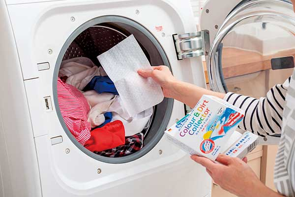 洗濯物と一緒にシートを1枚入れるだけ