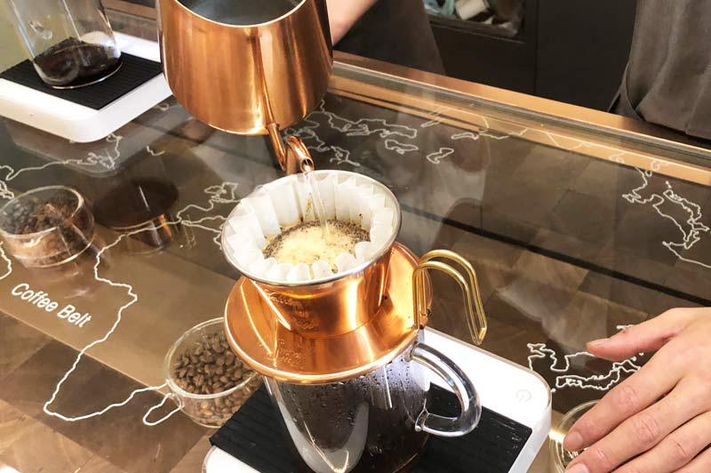 ドリップしてくれるコーヒー