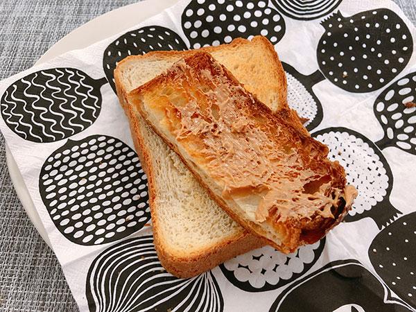 ピーナッツバター トースト