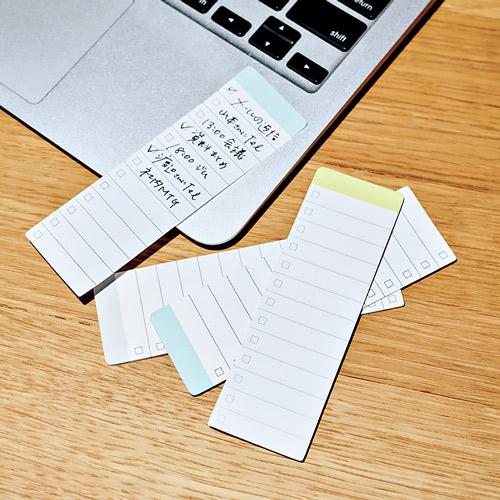 無印良品「インデックスにもなるチェックリスト付箋紙」