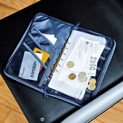 無印良品「ポリエステルパスポートケース・クリアポケット付」