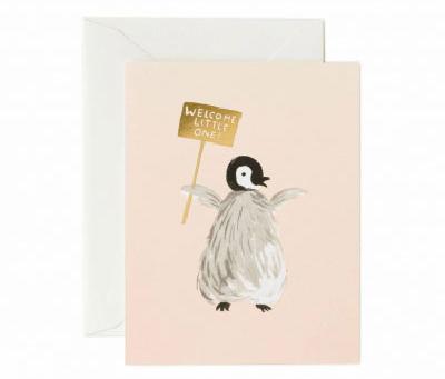 ウェディング・お祝いカード「ペンギンベビー」