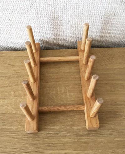 木製お皿立て(ダイソー)