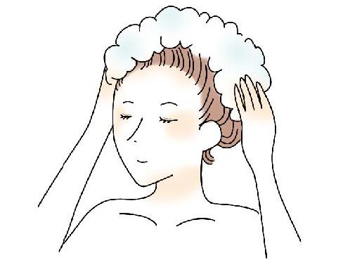 マッサージをしながら洗う