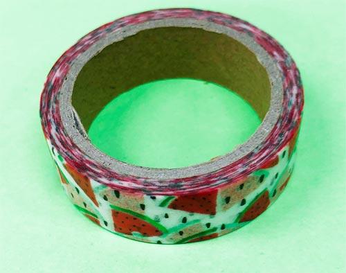 amifa マスキングテープ 水彩フルーツ柄 スイカ(セリア)