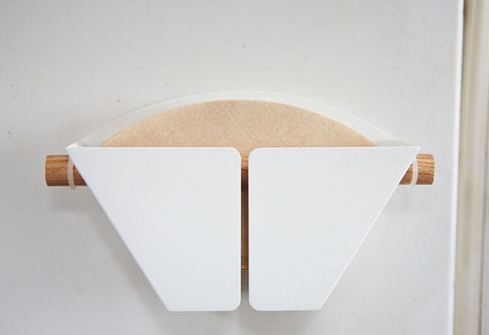マグネットコーヒーペーパーフィルターホルダー トスカ ホワイト