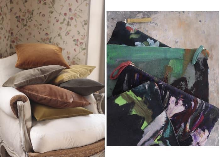 velvet cushion、velvet pouches paintelings