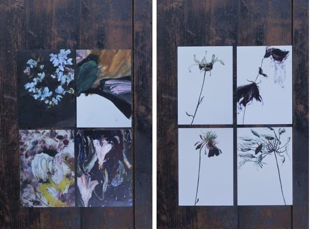 postcards paintings、postcards flowers