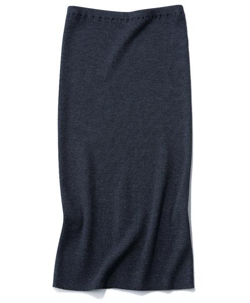 【2】Whim Gazette|ウィム ガゼット【リブニットタイトスカート】