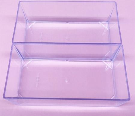【3】仕切りなしでたっぷり収納!「ダイソー」の透明ケース