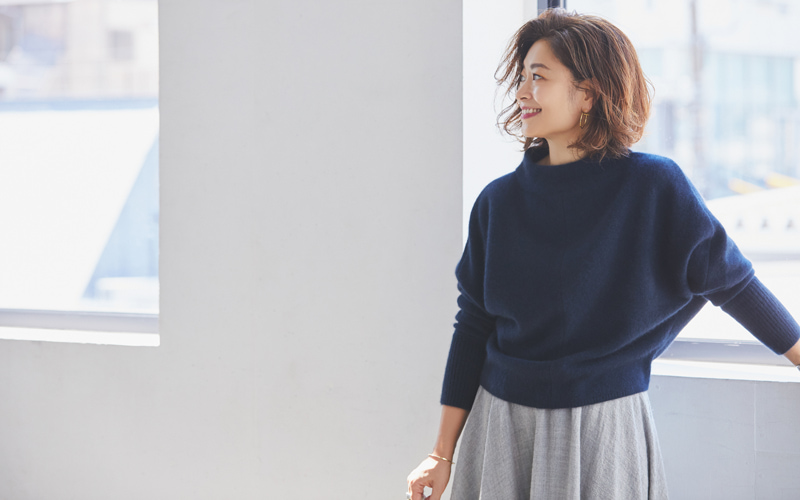【DES PRÉS|デ・プレ】ショート丈ニット