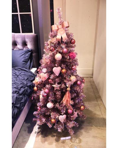 クリスマス ホログラムツリー ピンク