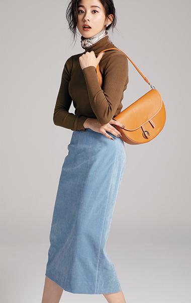 「ブルーグレースカート」を単品で使って